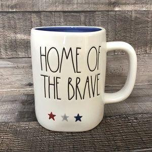 Rae Dunn Home of the Brave mug